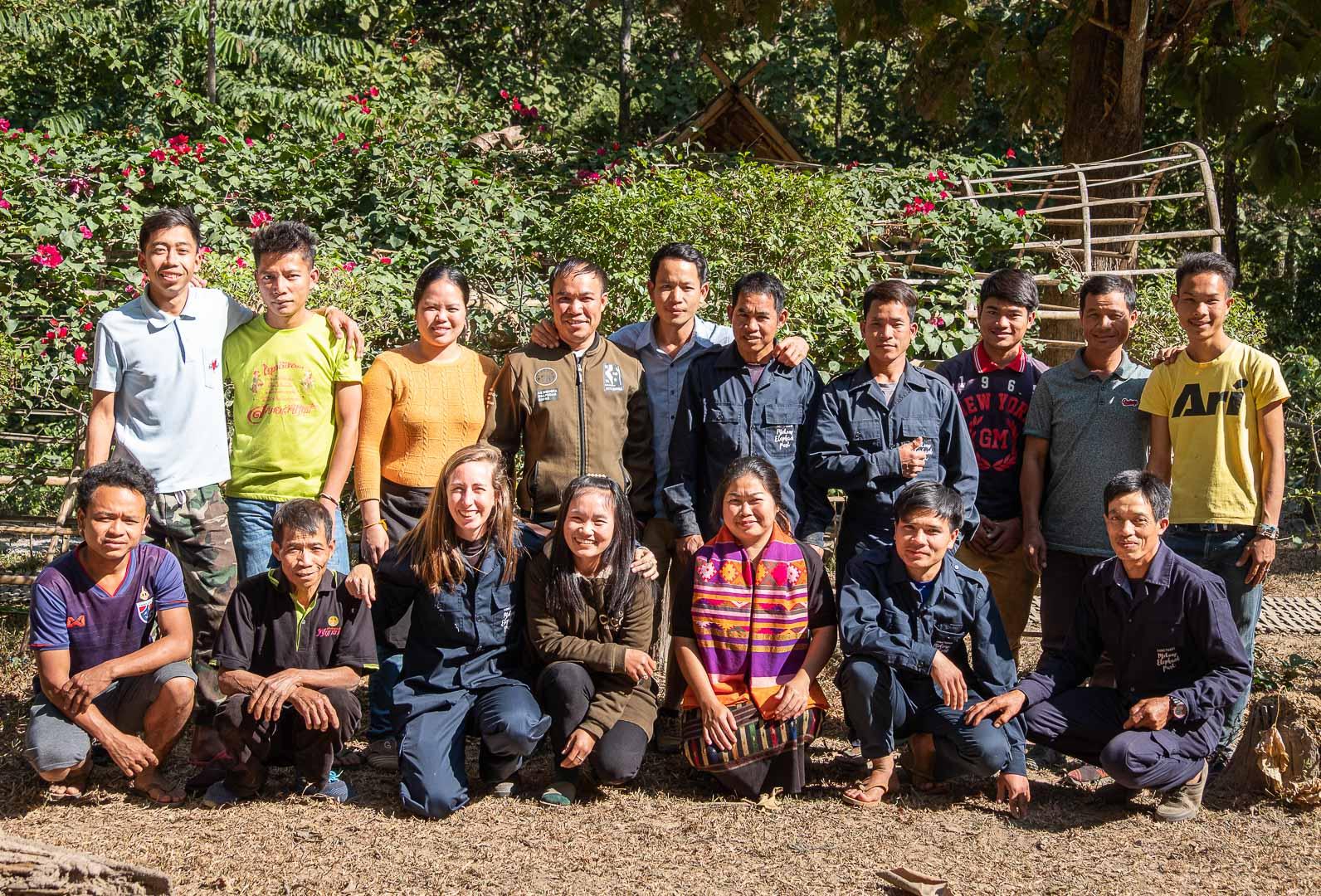The Mekong Elephant Park team