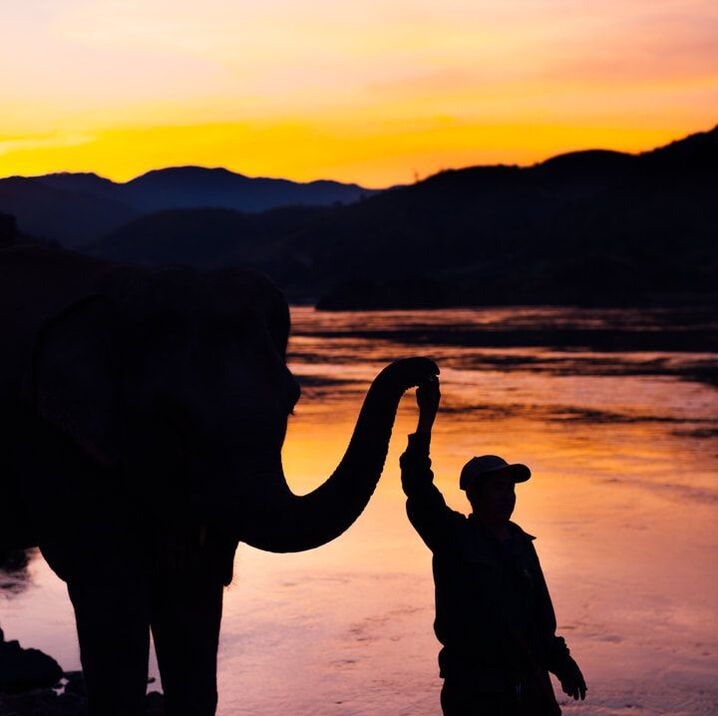 Mae Ping and sunset on the mighty mekong - laos