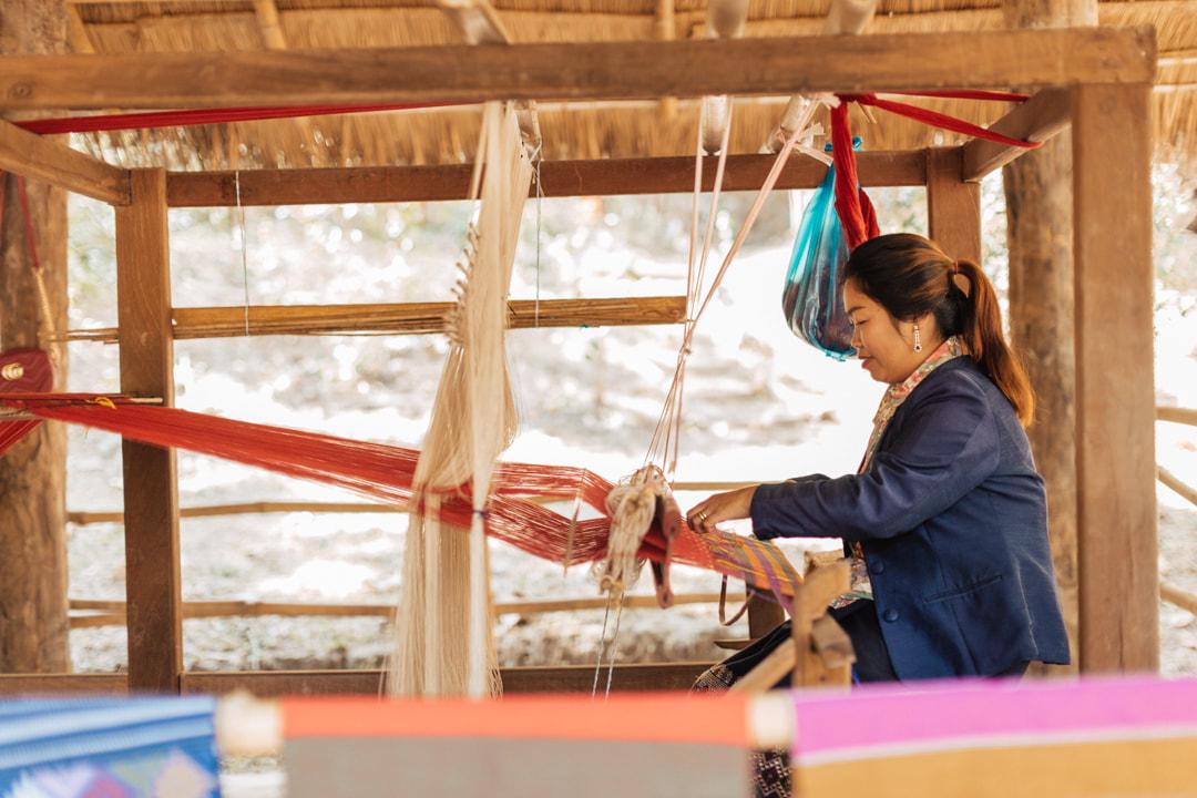 Activities - loom weaving laos