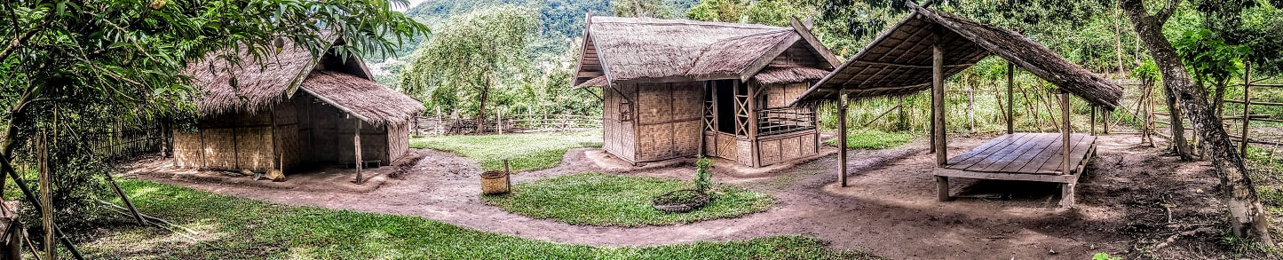 Family farm in mekong elephant park - pakbeng - laos